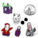 Pins Lapel Pin Halloween Pins Zinc Alloy Zombie Horror Custom Skeleton Witch Funny Cute Horror Enamel Brooch Lapel Pins Badges For Halloween