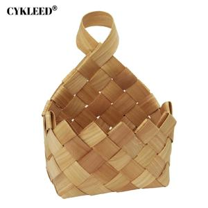 wholesale home metal wire gift storage basket with wood handle