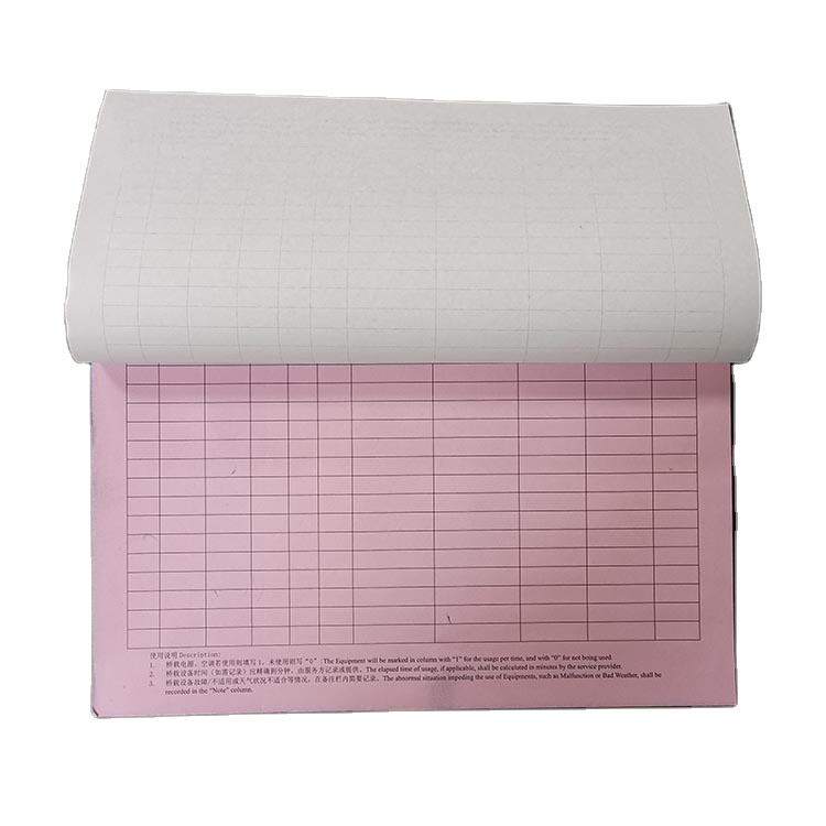 A4 Booklet 100 Sheets Copyable Invoice Record Charge Note Receipt Carbonless Paper Factory Prices 3 layers