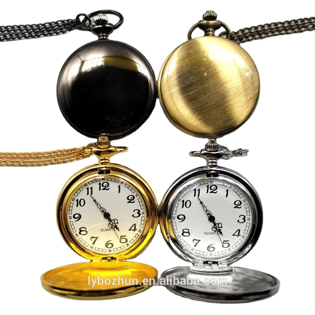Wholesale Smooth And Bright Fashion Retro Two-faced Pocket Watch