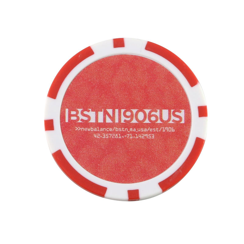 14g-clay 3-Tone Monte Carlo Poker Chip With Golden Trim Sticker
