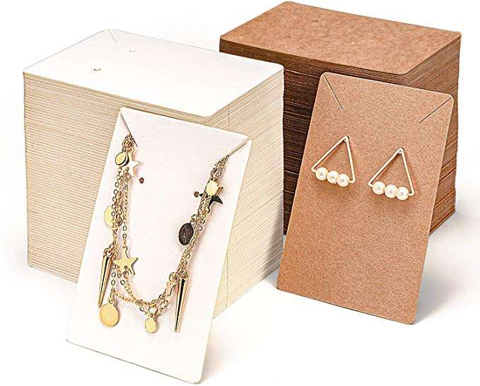 custom Earring Cards for jewelry Display Packaging Holder with Necklace Display Backs paper Cards