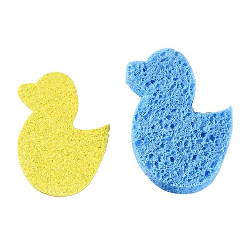 Duck-Shaped Compressed Cellulose Sponge Dry Sheet For Cleaning Can Be Expanded