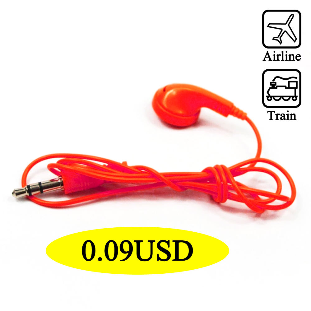 Cheap Disposable Earphone Single&Double Jack Wired Earphones for Airline Bus TH-E122