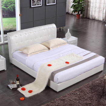Modern wholesale beds china bedroom sets leather bed