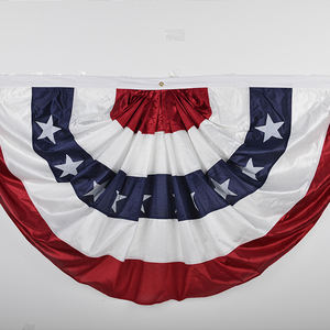 cheap custom design wholesale polyester USA pleated fan flag skirt