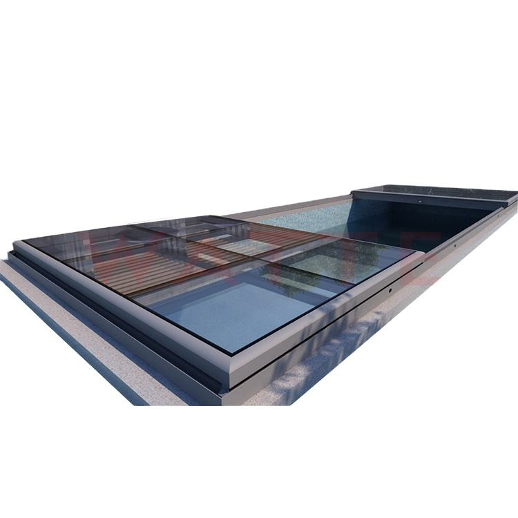 Usa Upstand Vent And Walkable Skylight Windows Waterproof Well Sound Proof Aluminum Ventilation Roof Light Window