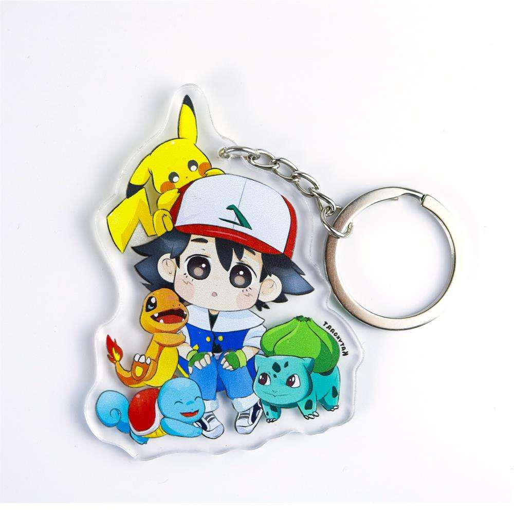 Anime Charms Printing Custom Acrylic Keychain Supplier