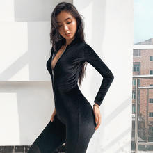 Autumn jumpsuits women active wear skinny jumpsuit fitness bodysuit new female casual work out playsuit rompers Y12563
