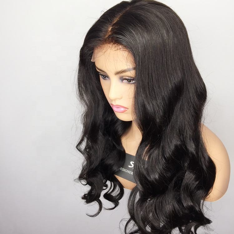 Human Hair Silk Top Wig Full Lace Hair Wigs Virgin Glueless Silk Base Full Lace Wigs