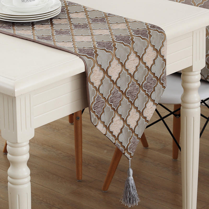 European Home Fabric Decoration Coffee Table Table Runner, American Simple Modern Table Runner /