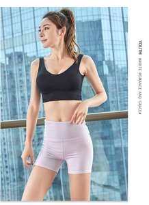 Shorts Shorts Design Summer 4 Way Stretch Cross Waistband Drying Quickly Solid Color Women Running Shorts