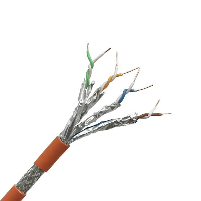 Kabel Kucing 7 <span class=keywords><strong>SFTP</strong></span> 23AWG Plenum Jaringan Ethernet LSZH 1000ft 100m1000mhz Harga Per Meter 22awg CAT7 Kabel