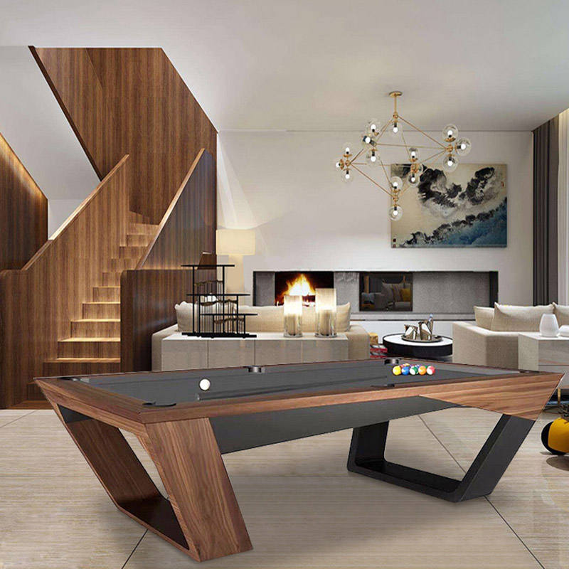 Modern luxury table Pocket Material and stainless steel Material korea billiard pool table