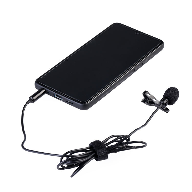 Portable Mike 3.5 mm Jack Matel Mini Wired Condenser Lavalier Lapel Clip Microphone For Smart Mobile Phone Camera
