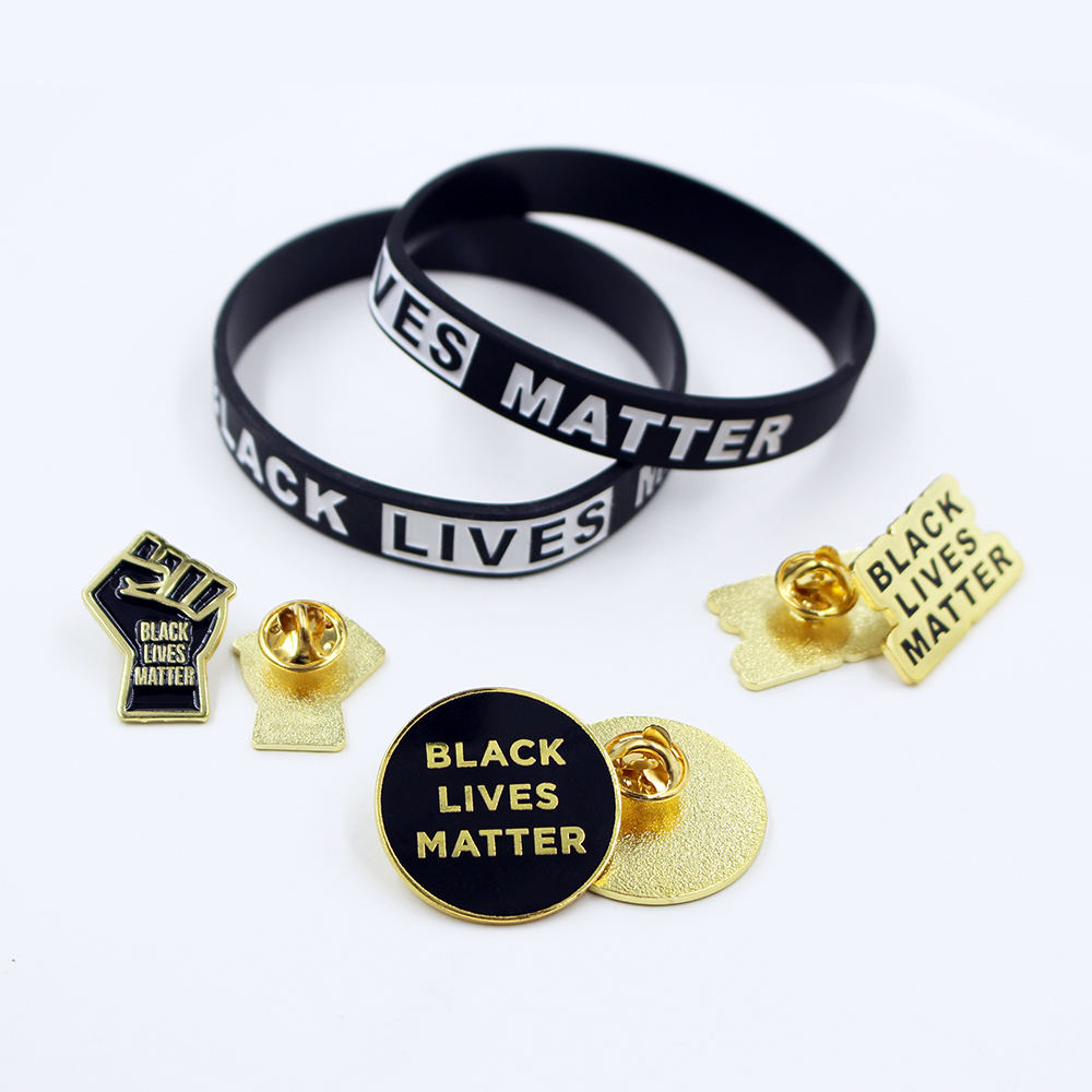 Hot Selling Charm Jewelry Silicone Wristband Set Stock Necklace Black Lives Matter Bracelets