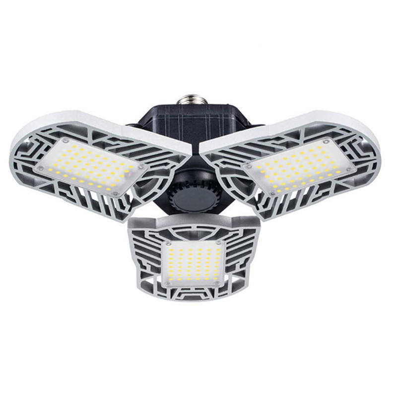 60w high bay adjustable 3 panel folding super bright fixture parking deformable 6000 lm led garage light