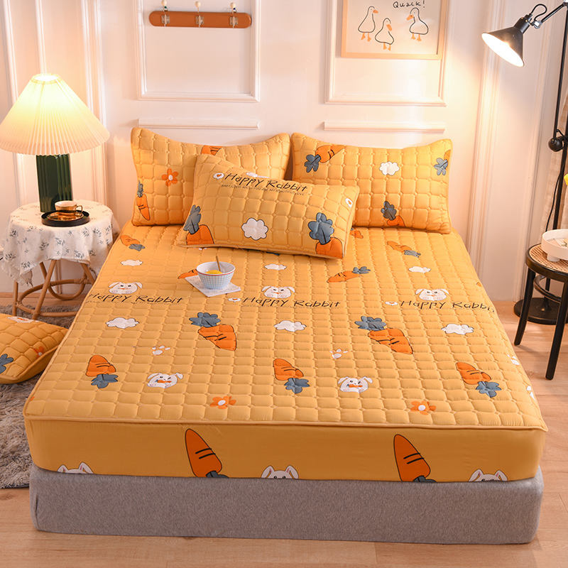 Wholesale printing polycotton mattress protective cover fixed bedspread coverlet fitted bed cover quilted bed sheet
