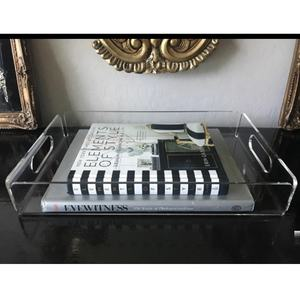 Cheap Perspex Crystal Clear Acrylic Dessert Display Tray For Party