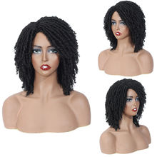 Hot Selling Cheap Synthetic Hair Wigs for Black Women African Short Dreadlocks Wig Faux Locs Crochet Hair Braided Wigs
