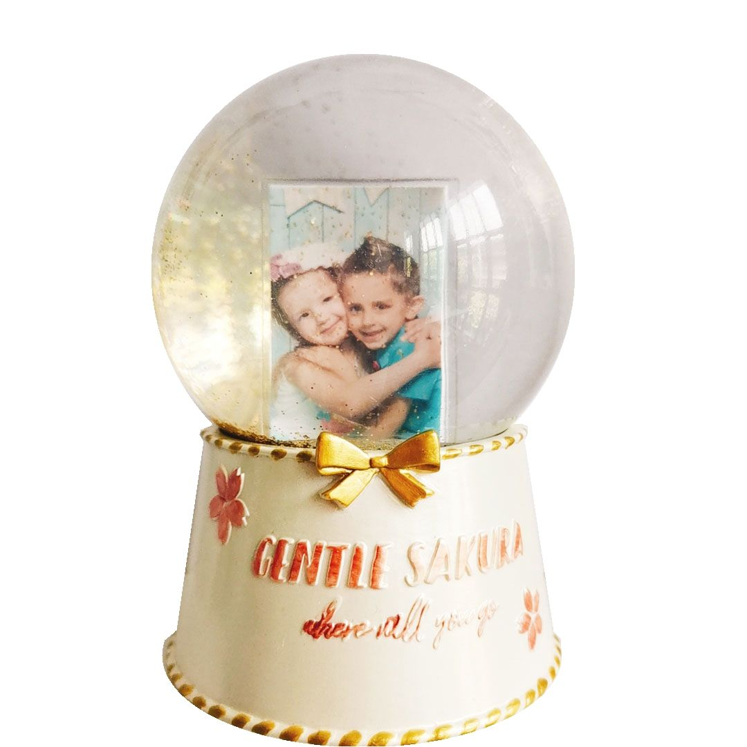 Personalised Photo Products Snowglobes Water 100mm Photo Frame Snow Globe