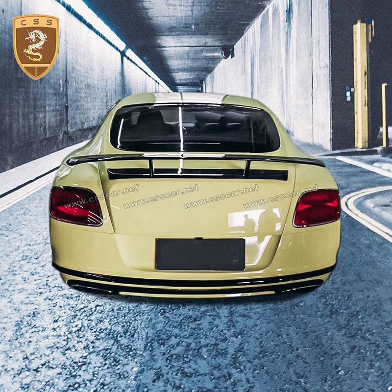 Mansori Carbon fiber car spoilers auto parts & accessories rear wing spoiler for bentley continental gt