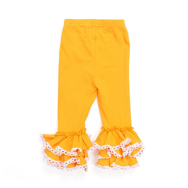 Soft fall clothes baby girl ruffles leggings custom clothing girl pants