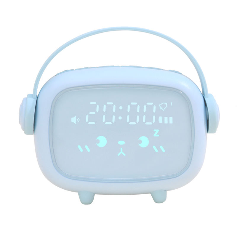 Multicolor Battery Operated Smart Wake Up Kinderen Kids Baby Digitale Siliconen Handvat Touch Slaap Trainer Nachtlampje Wekker