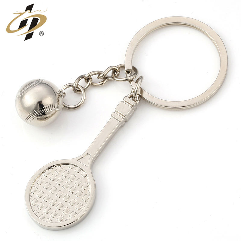 Creative Gift Badminton Table Tennis Tennis Golf Sport Metal Keychain