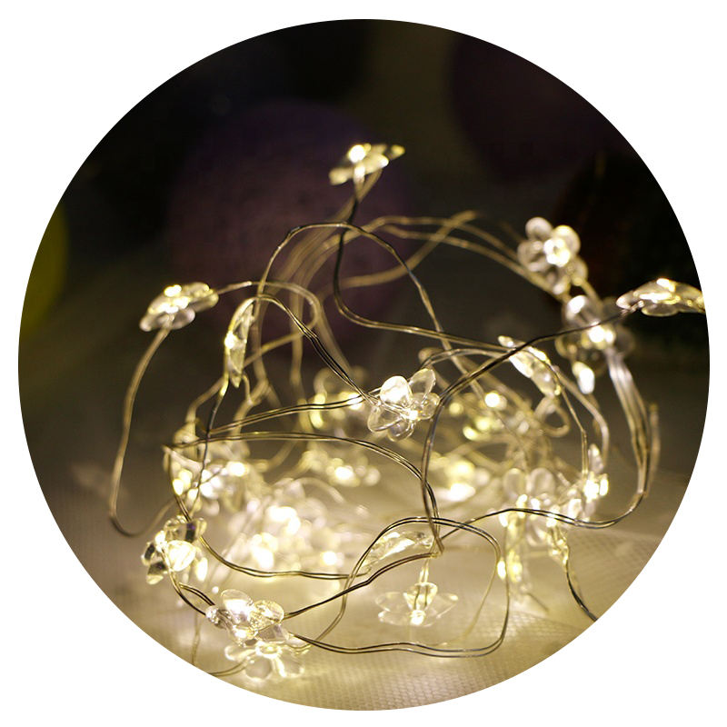 Kerst Wedding Outdoor Decoration Sakura Bloem Guirlande Verlichting Power LED String Fairy Lights