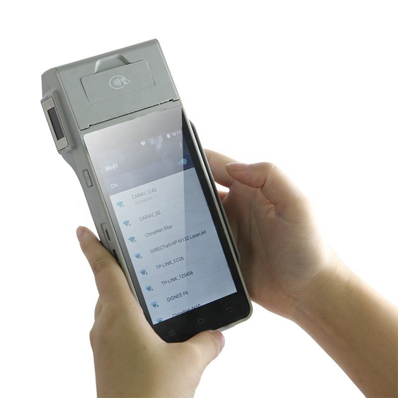 Finger print 4G handheld android smart pos