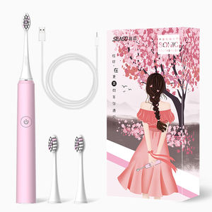 SEAGO Wholesale Pink SG972DC Rechargeable Sonic Electric Toothbrush Manufacturer