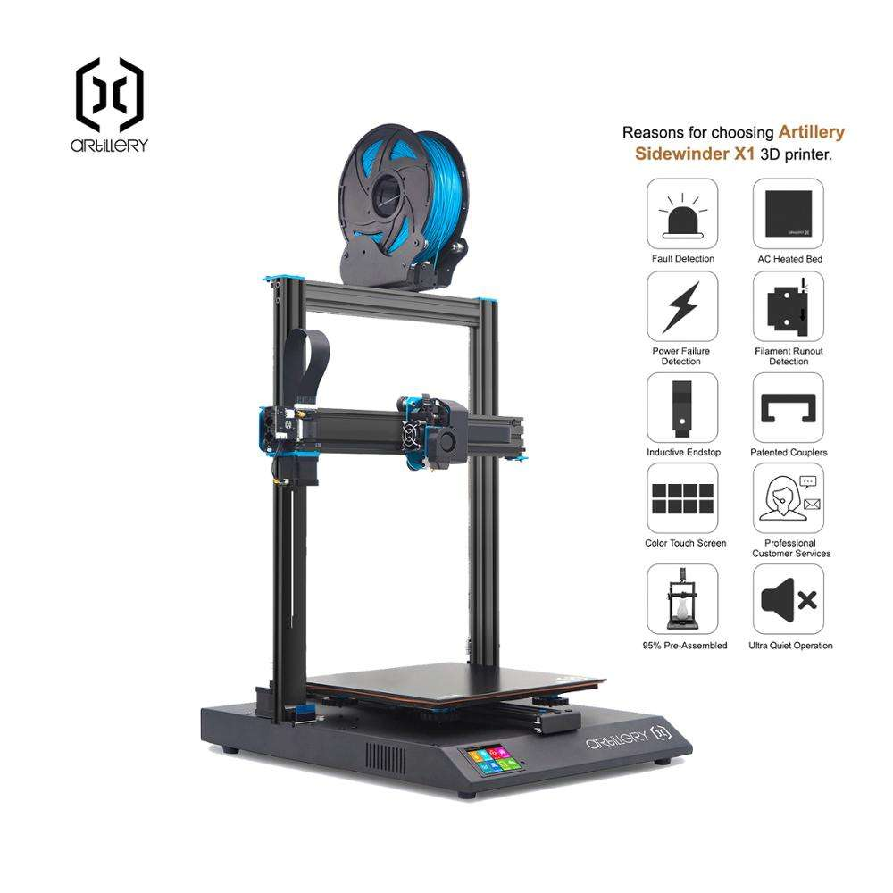 on-line support hot-selling upgraded and Ultra-quiet Driver TFT Touch Screen Dual Z axis Resume USB Artillery 3d printer