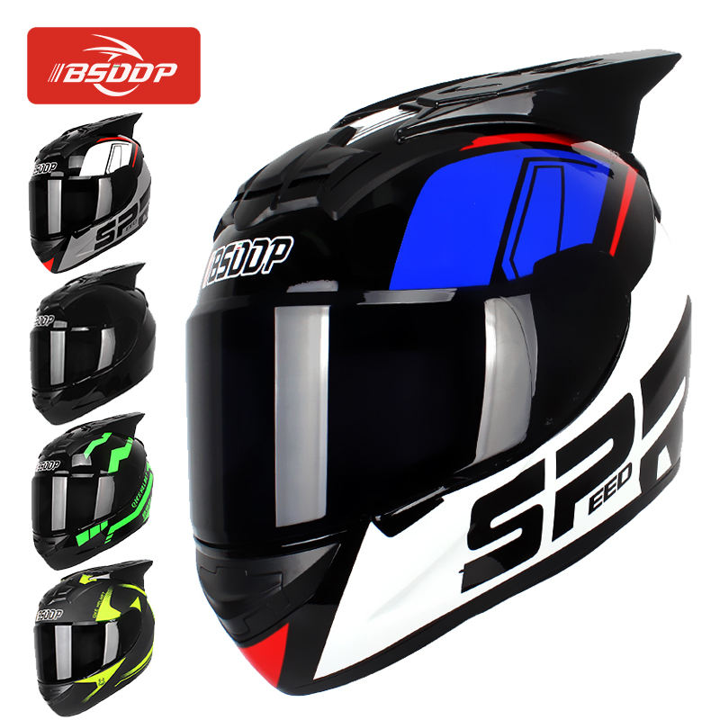 BSDDP A034 Racing Motorcycle Helmet Men Full Face Helmet Moto Riding ABS Material Motocross Helmet Motorbike Casco Moto