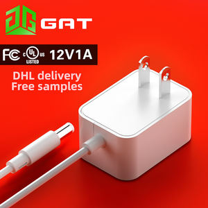 12V 1A UL certified power adapter US AC DC 12W high quality FCC certified wall power supply