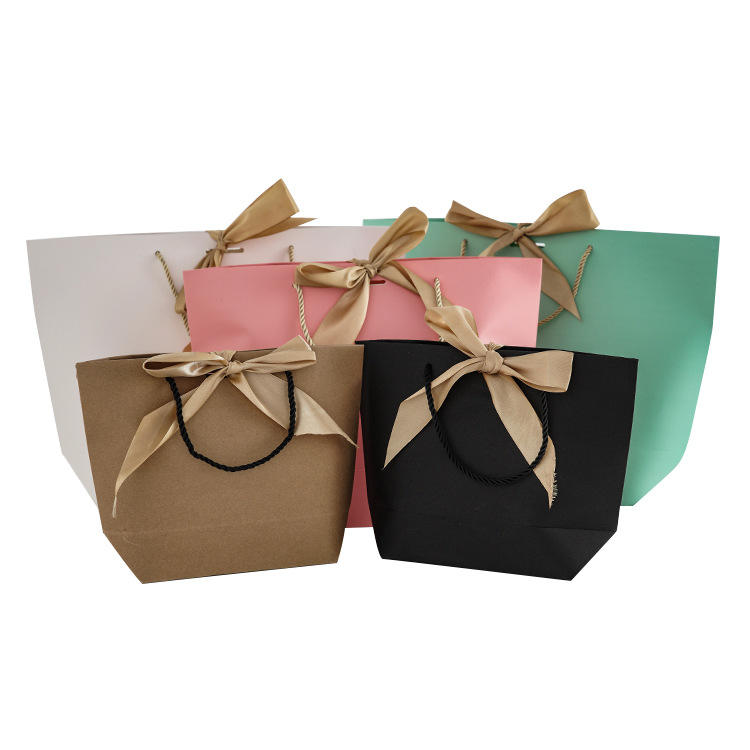 High quality elegant gifts packaging boat shape paper bag