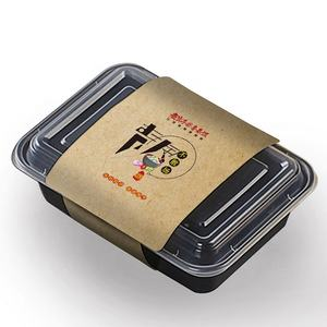 Color packaging print design custom logo lunch food container boxes paper sleeves