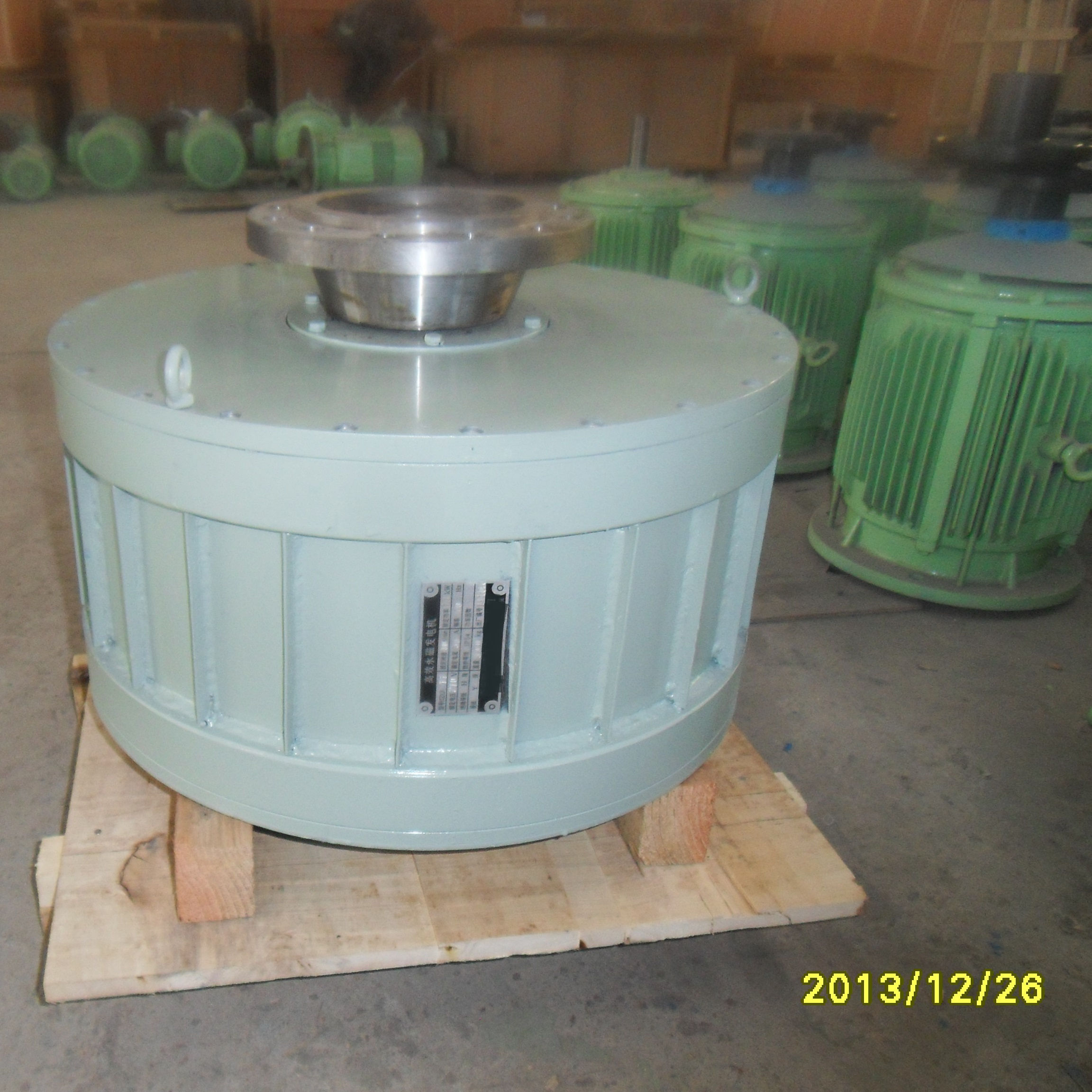 High Efficient PM Generators 150kw 500rpm Low Speed Vertical Permanent Magnet Generator