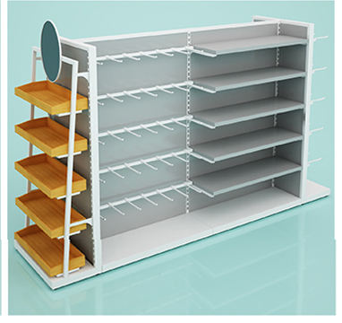 Home Textile Store Display Rack Shelf For Shop Furniture Storage Display Adjustable Gondola Shelving Units