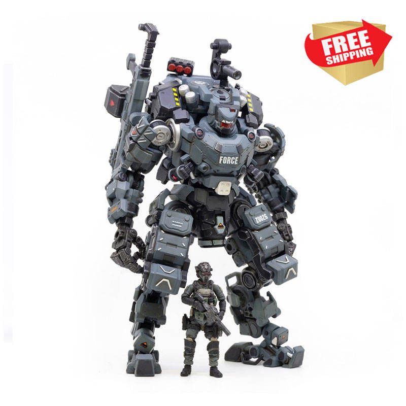 Action Figure STEEL BONE ARMOR Mecha And Military Soldier Figure Model Collection Toy Christmas Gift 1/25 JOYTOY