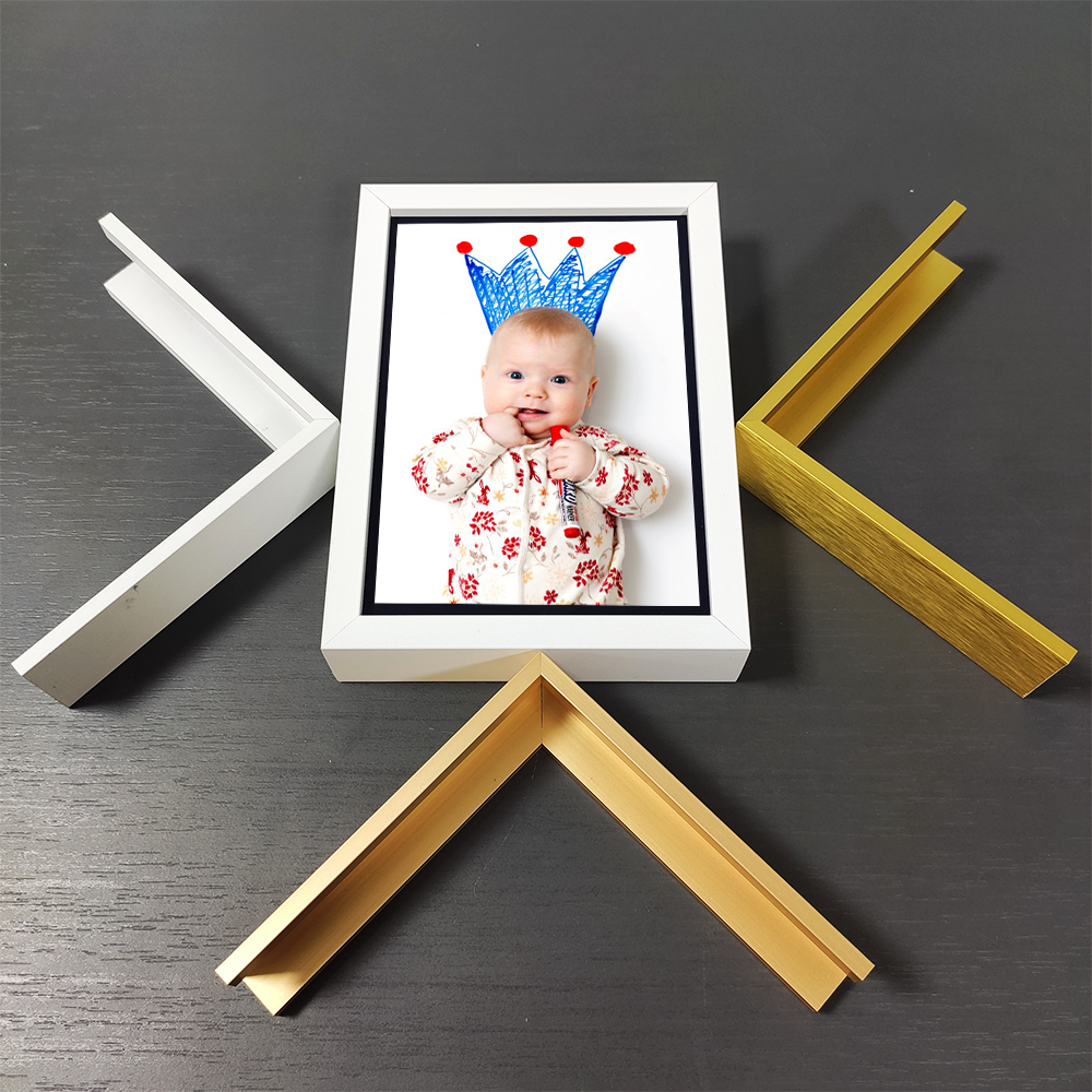 20x30 25x35 30x40 Modern Engraving White Bars Baby Poster Magnet Hanger logo Products Photo Box Picture Frames