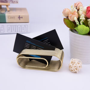 Sliver color simple style high quality metal business card holder case for leather