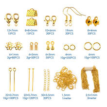 Plastic Box Jewelry Findings Tool Set Open Jump Ring Eye head Pins Lobster Clasp Hooks Earring Hooks Extend Chain Accessories