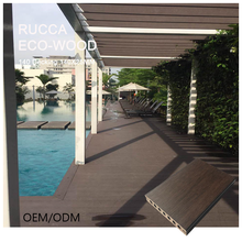 Hot Sale WPC Swimming Pool Deck Engineered Floor Wood Plastic Composite Decking 140*25mm Wood Floor Decking