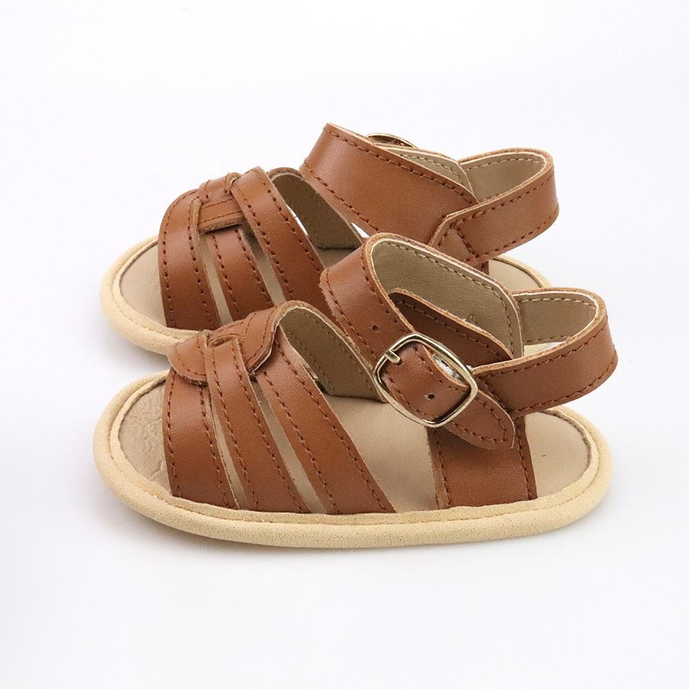New Arrival High Quality Soft Sole Baby Girl Sandals Leather Fancy Infant Shoes Manufacturer