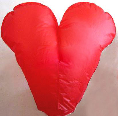 Oval and heart Shape Chinese bio degradable chines sky lantern wed fire sky lantern