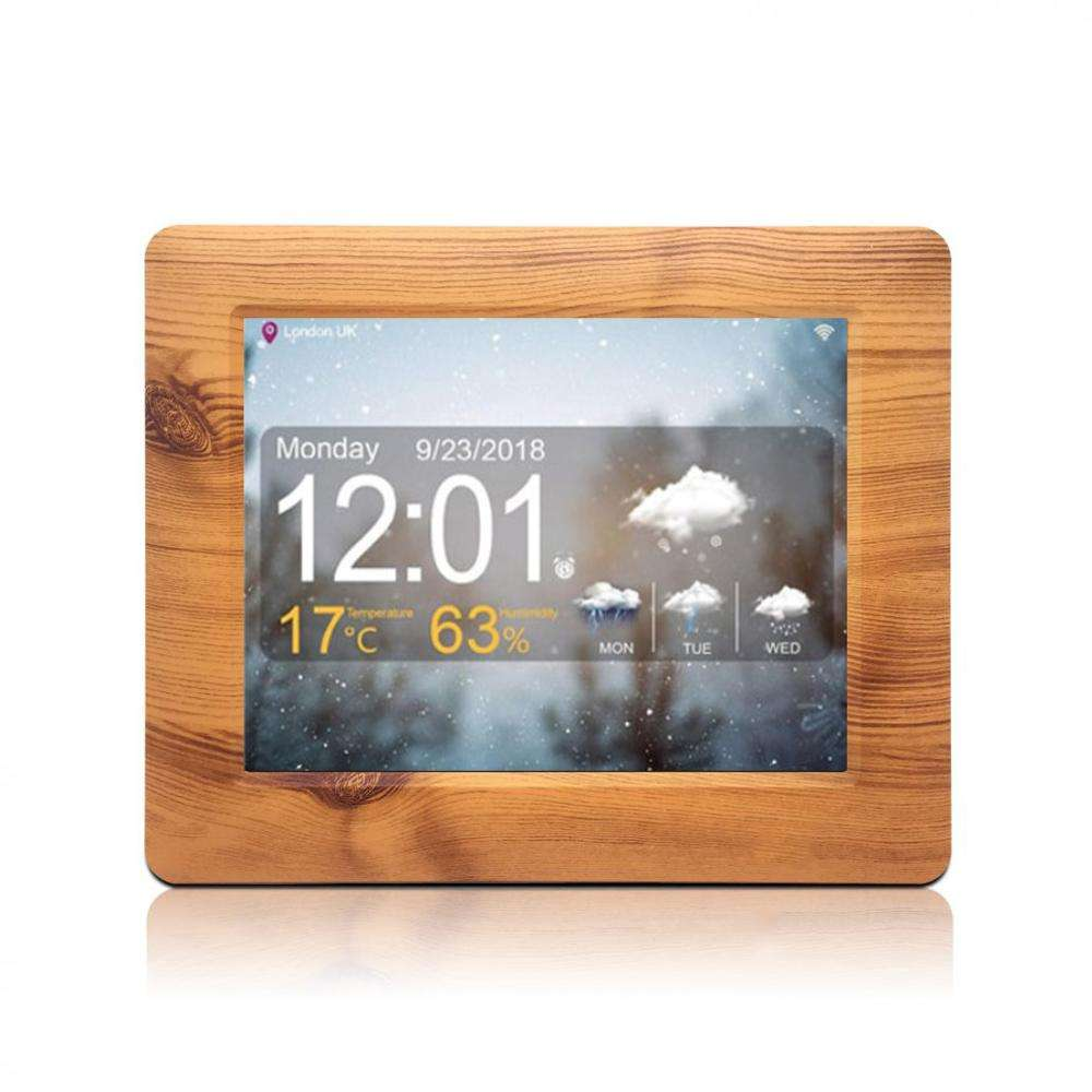 New Item dementia 8 electronic digital wood led alarm clock elderly with day and date