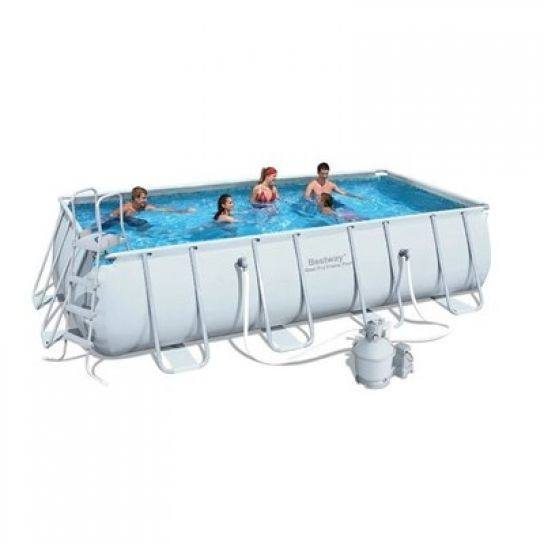 Bestway 56442 4.04mx2.01mx1m rectangular frame pool set pools swimming outdoor with sand filter pump