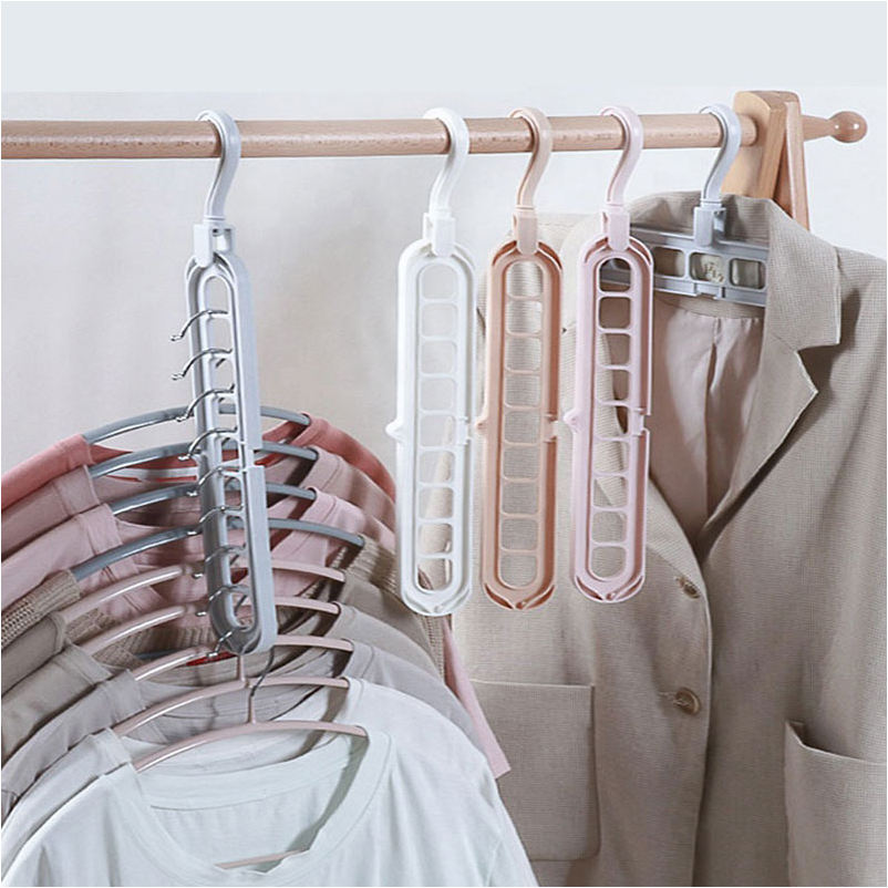 Clothes Clothing Hangers Holder Multiple Plastic Folding Mobile Wall Hook Magic High Quality Cloth Hanger