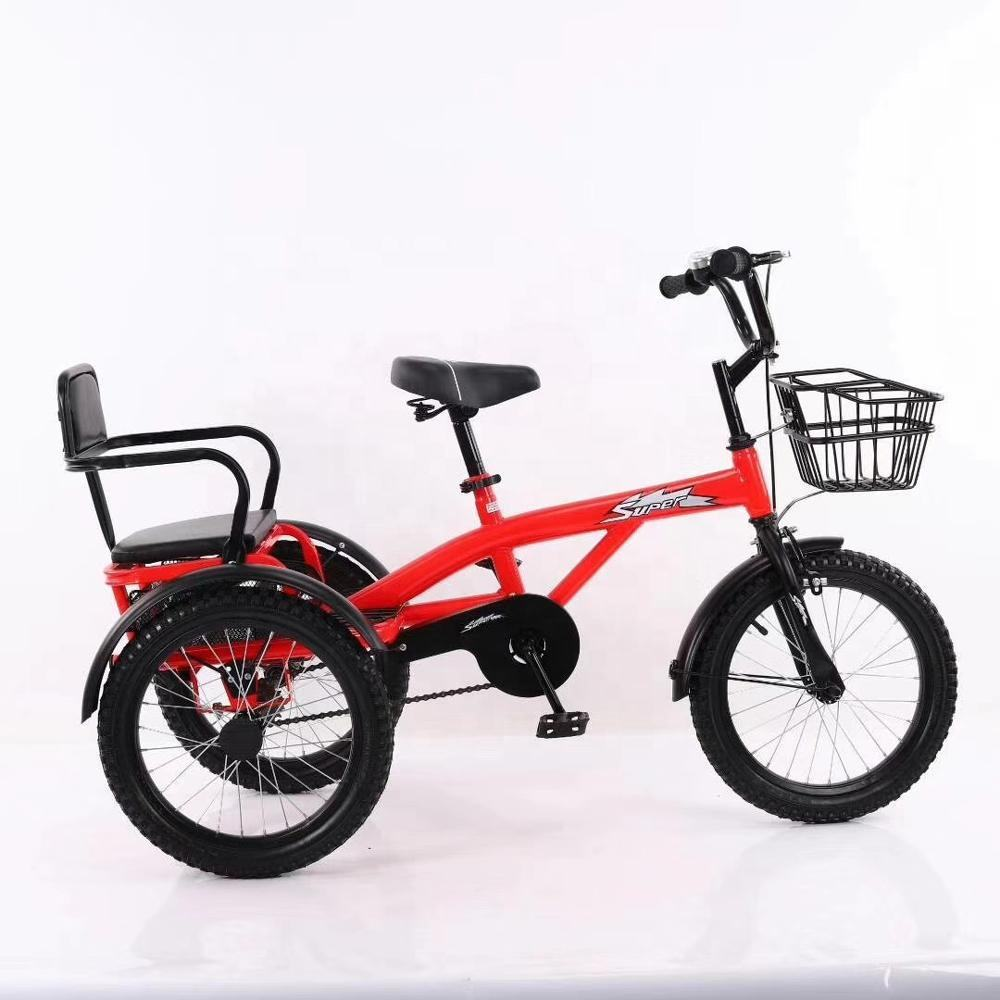 twin tricycle kids/new model triciclo kids baby tricycle/wholesale kids double seat tricycle children tricycle two seat for twin